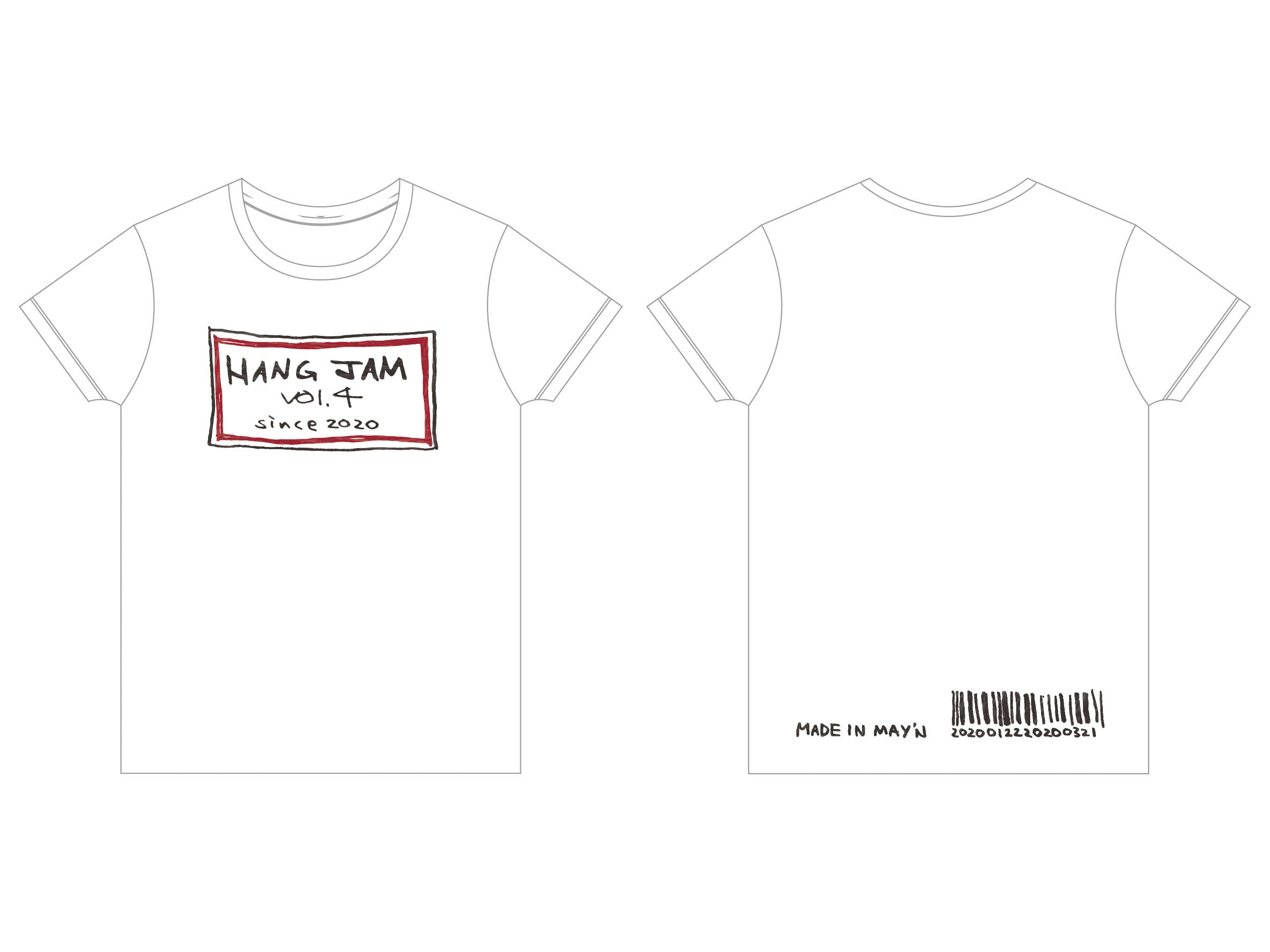 「Hang jam vol.4」 Tシャツ(ホワイト Made in May'n ver.)